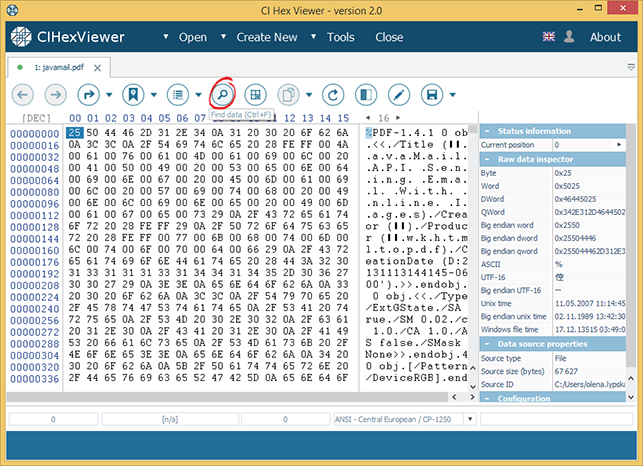 CI Hex Viewer - a professional editor of any binary data